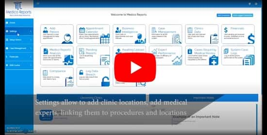 medical software on screen